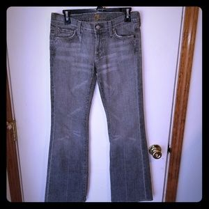 7 for all mankind gray Jean's 28